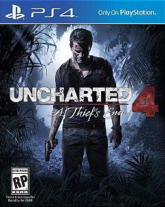 Jogo Uncharted 4: A Thief's End - PS4 - PLAY 4 - PLAYSTATION 4 - Aventura/ação