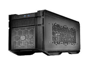 GABINETE MINI-ITX HAF STACKER 915R PRETO FONTE TRASEIRA - HAF-915R-KKN1 - COOLER MASTER