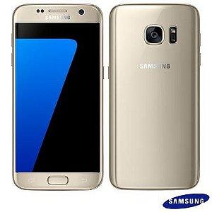 """Celular Galaxy S7 Dourado Samsung, com Tela de 5.1"""", 4G, 32 GB e Câmera de 12 MP - SM-G930F"""