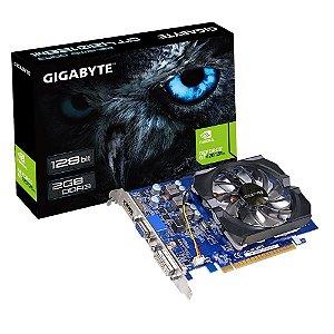 Placa de Vídeo VGA Gigabyte GeForce GT 420 2GB DDR3 128-Bits PCI Express 2.0 rev.3.0 - GV-N420-2GI