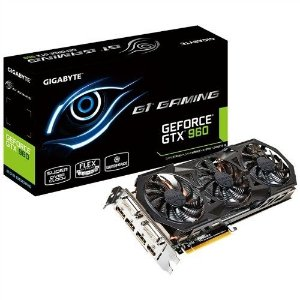 Placa de Vídeo VGA Gigabyte GeForce GTX 960 G1 Gaming 4GB DDR5 128 Bit PCI-Express 3.0 GV-N960G1 GAMING-4GD