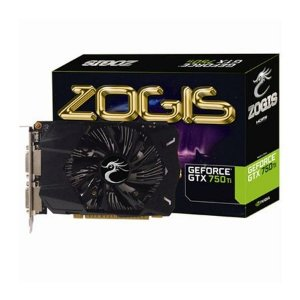 PLACA DE VIDEO ZOGIS GEFORCE GTX 750TI 2GB DDR5 128BITS - ZOGTX750TI-2GD5