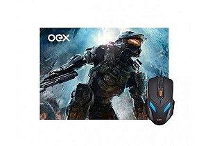 COMBO WAR GAMER OEX MOUSE 2400DPI + MOUSEPAD 290X230MM, MC-100 - BOX