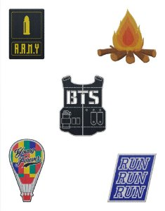 Kit de Patches BTS Bangtan Boys