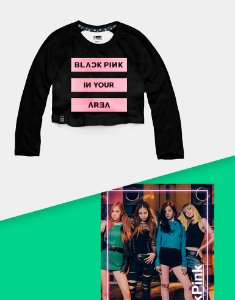 Combo Cropped Raglan BlackPink In Your Area + Poster