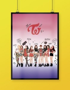 Poster TWICE Like OOH-AHH