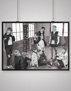 Poster Black Shade Bangtan boys BTS