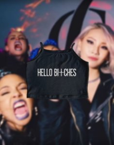 Cropped Hello Bitches 2NE1 CL