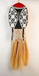 Máscara Sagrada Indígena Ariranha -  Tribo Mehinako