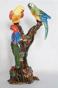 Centro de mesa pássaros no tronco - Silvana Tinelli