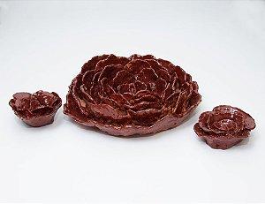 Rosas de argila - Artista Silvana Tinelli
