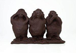 Três Macacos sábios - Artista Silvana Tinelli