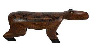 Banco de madeira em formato de Capivara - Tribo Mehinako