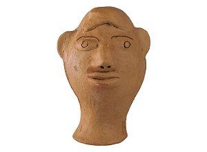 Escultura de terracota Cabeça - Mestra Irinéia