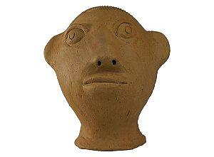 Escultura de terracota Cabeça III - Mestra Irinéia