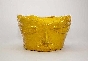 Vaso de rosto Amarelo - Silvana Tinelli