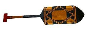 Remo de madeira decorativo - Tribo Mehinako