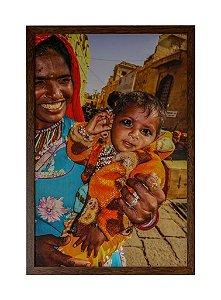 Quadro moldura de madeira Coleção Índia I - Silvana Tinelli