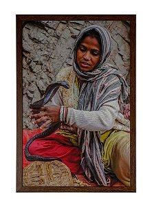 Quadro moldura de madeira Coleção Índia II - Silvana Tinelli