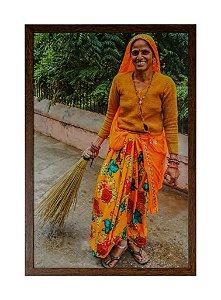 Quadro moldura de madeira Coleção Índia III - Silvana Tinelli