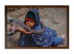 Quadro moldura de madeira Coleção Índia VIII - Silvana Tinelli