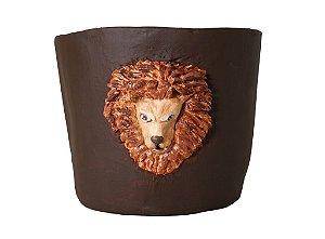 Vaso de terracota Cara de Leão - Silvana Tinelli