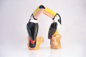 Escultura de cerâmica Tucano - Silvana Tinelli