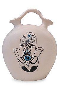 Vaso de cerâmica Hamsá - Silvana Tinelli