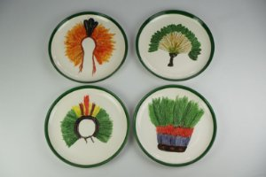 Conjunto de pratos decorativo Cocares - Silvana Tinelli