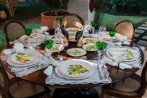 Jogo de jantar Limão Siciliano 8 Lugares (24 Peças) - Silvana Tinelli