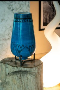 Vaso de cerâmica Azul - Silvana Tinelli