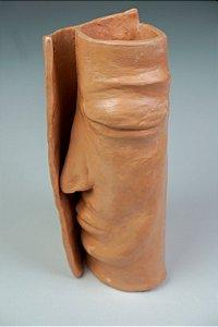 Vaso de cerâmica Rosto Intermédio  - Silvana Tinelli