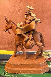 Escultura de terracota Francisco de Assis I - Leonilson Arcanjo