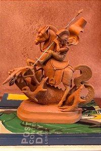 Escultura de terracota São Jorge - Leonilson Arcanjo