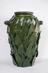 Vaso de cerâmica Folhas verdes - Silvana Tinelli