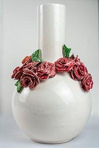 Vaso Flores rosas- Silvana Tinelli