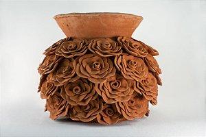Vaso de terracota Flores - Tita de Capela