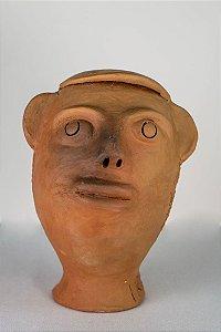 Escultura de terracota Cabeça II - Mestra Irinéia