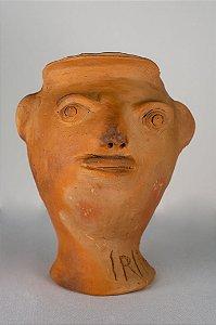 Escultura de terracota Cabeça IV - Mestra Irinéia