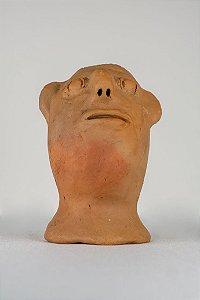 Escultura de terracota Cabeça - Mônica de Irinéia