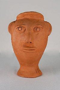 Escultura de terracota Cabeça VII - Mestra Irinéia