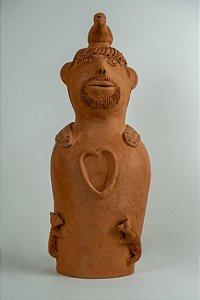 Escultura de terracota Homem e os animais - Mestra Irinéia