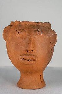 Escultura de terracota Cabeça V - Mestra Irinéia