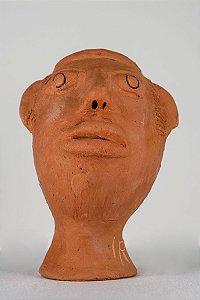 Escultura de terracota Cabeça VIII - Mestra Irinéia