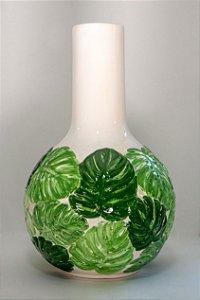 Vaso de cerâmica Costela de Adão Verde - Silvana Tinelli