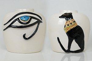 Vaso de cerâmica Egípcio - Silvana Tinelli