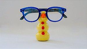 Suporte para óculos de terracota Boneco de neve amarelo - Walter Cabral