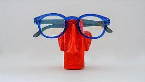Suporte para óculos de terracota Vermelho com orelhas - Walter Cabral