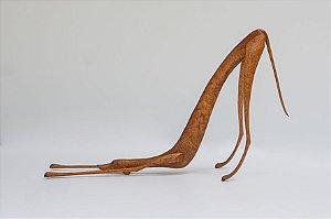 Escultura de madeira Cão querendo brincar - Marcos Paulo Lau da costa