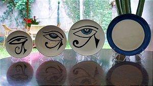 Jogo de Jantar Olhos Gregos e egípcios 4 lugares (16 peças) - Silvana Tinelli